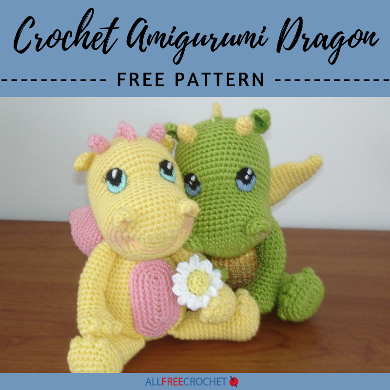 Vincent the Dragon | Free Crochet Pattern Amigurumi | Hooked by Kati | 800x800