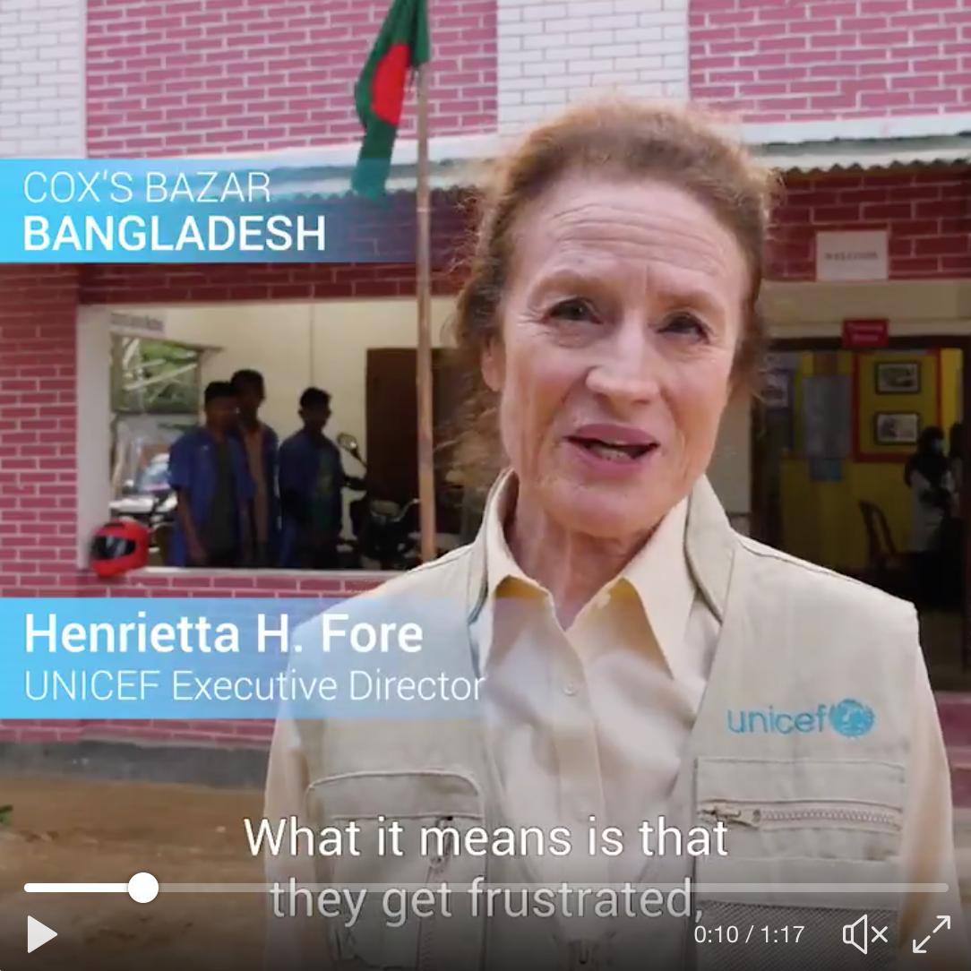 Young people can create a brighter future. But only if they get support to learn, train and find decent work. Last year, I visited a UNICEF-supported programme in Bangladesh, which helps young people get the skills they need to succeed. #ThrowbackThursday  #GenUnlimited