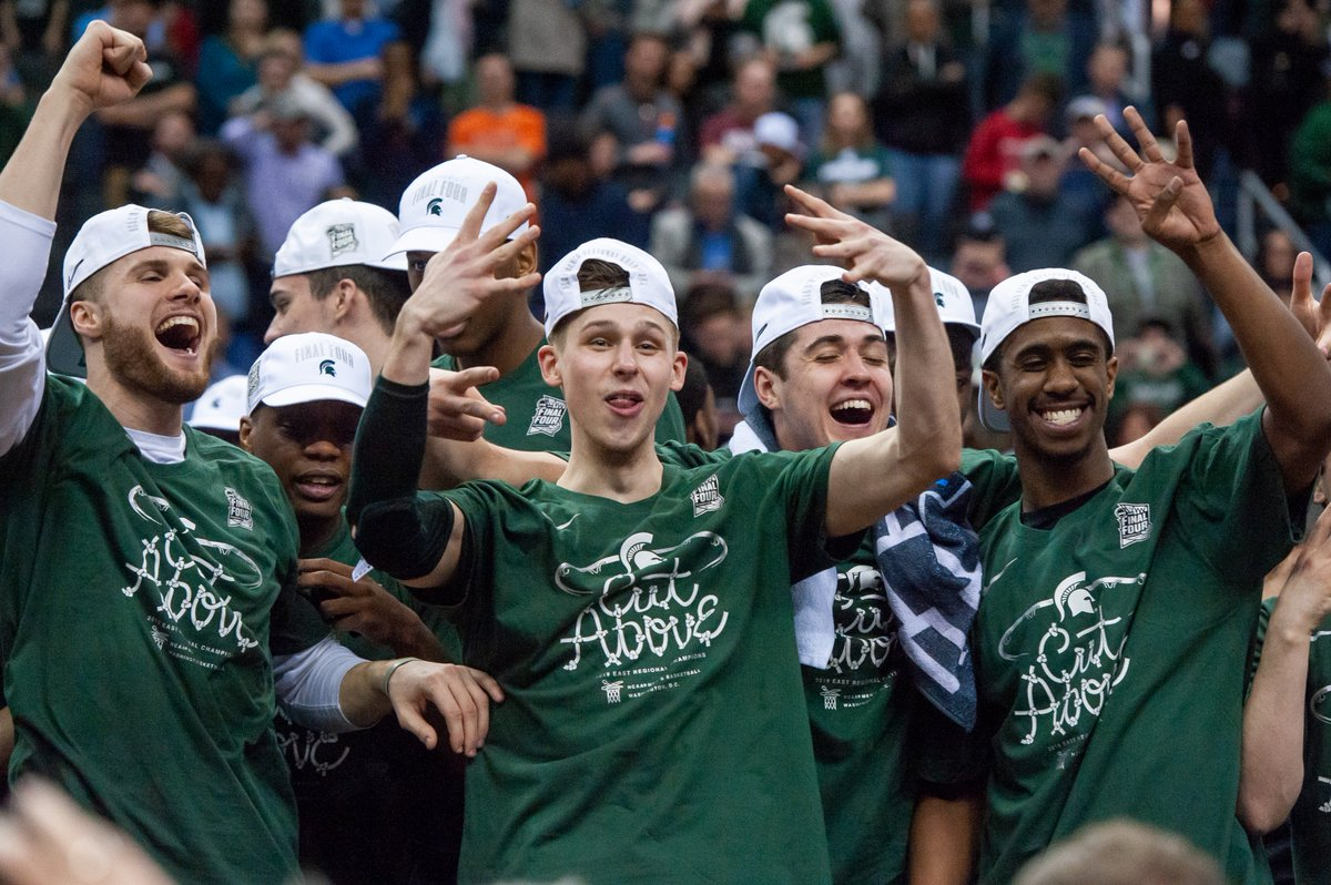 Who doesn't want more @MSU_Basketball celebration photos?  Exactly.  #MarchMadness x #MarchOnBTN  📷: @ajonesi https://t.co/9o5OISG3r0