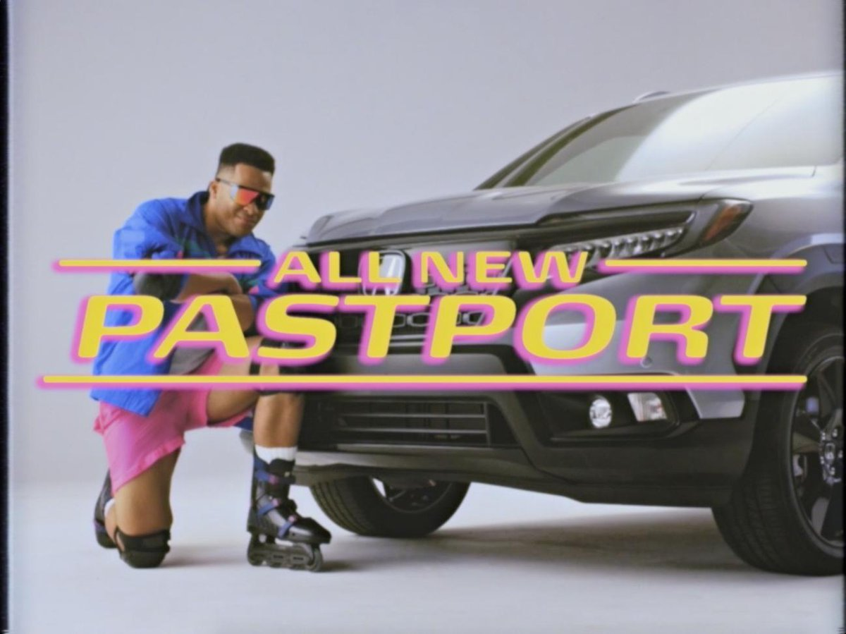 Yall aint ready for this. Check out the all-new #HondaPastport, the 2019 Passport with 90s flair. The past never looked so good.