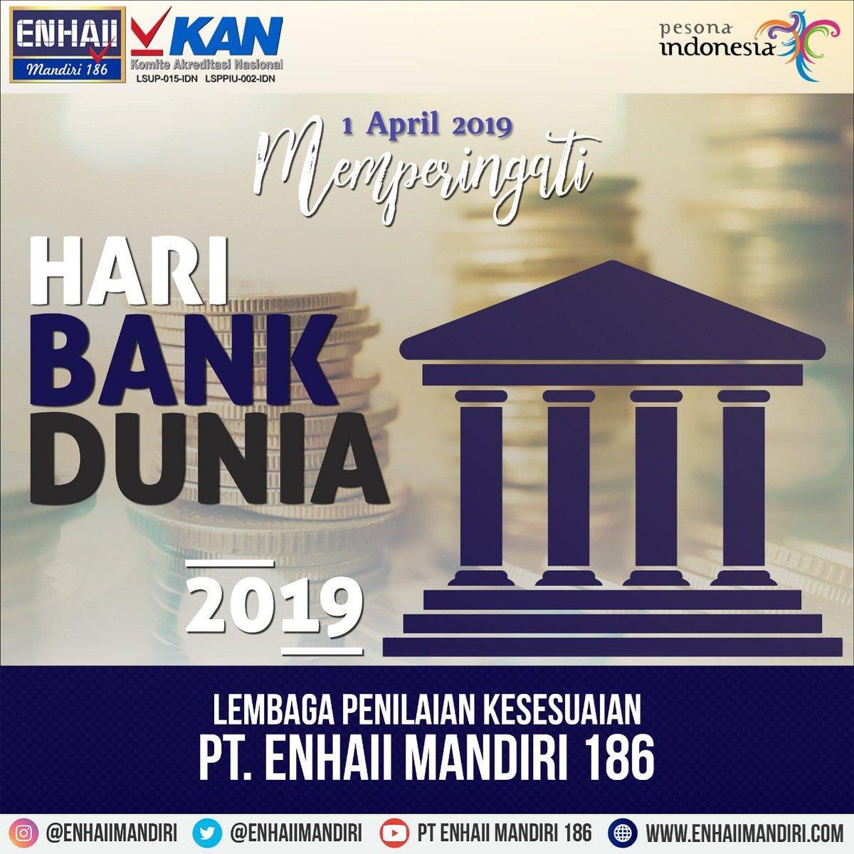 LPK PT. ENHAII MANDIRI 186 mengucapkan Selamat Hari Bank Indonesia.  Semoga perbankan Nasional semakin maju dan kokoh.  Tetaplah membangun Negara ini agar menjadi lebih baik. #haribankindonesia #lpk #enhaiimandiri186 #kan