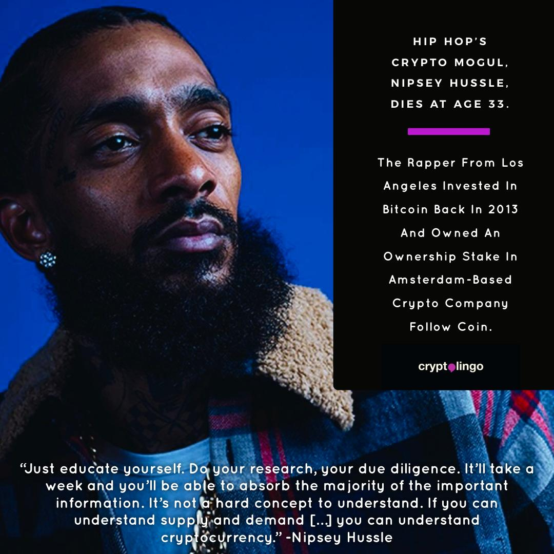 nipsey hussle cryptocurrency investment