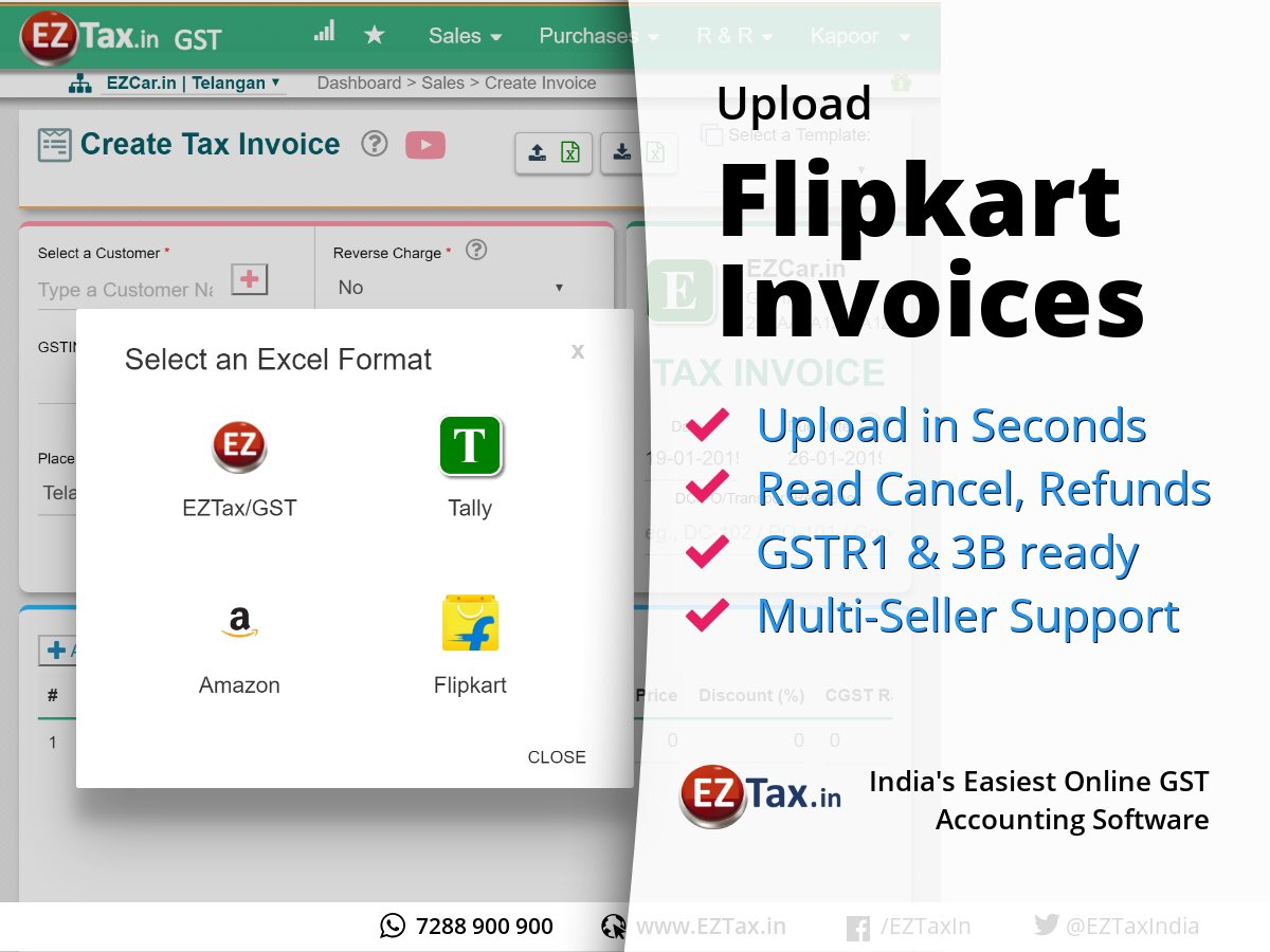 Eztax In Online It Gst Portal On Twitter Accounting Is Not That Difficult Do It Yourself Through Eztax Books The Easiest Accounting Software In India Flipkart Sellers You Have A Good News