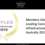 Image for the Tweet beginning: Members of @Level27Chambers are listed