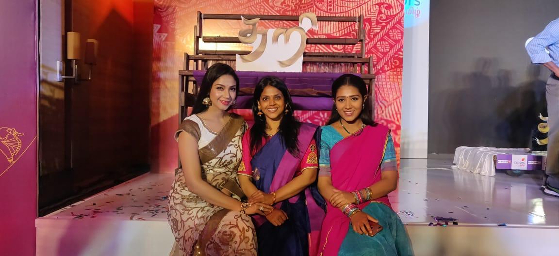 Actress LalithaKumari's production house NakshatraMediaworks's maiden venture #Thari serial in #ColoursTamil✨ from #April1st7pm. All the best @LLalithaKumari3 & team