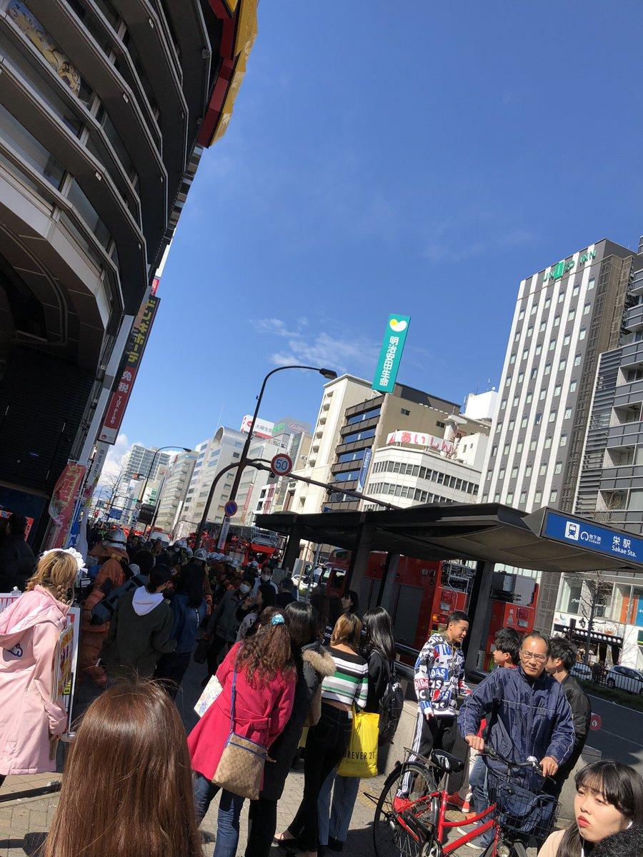 ドン・キホーテ名古屋栄店で火事の現場画像