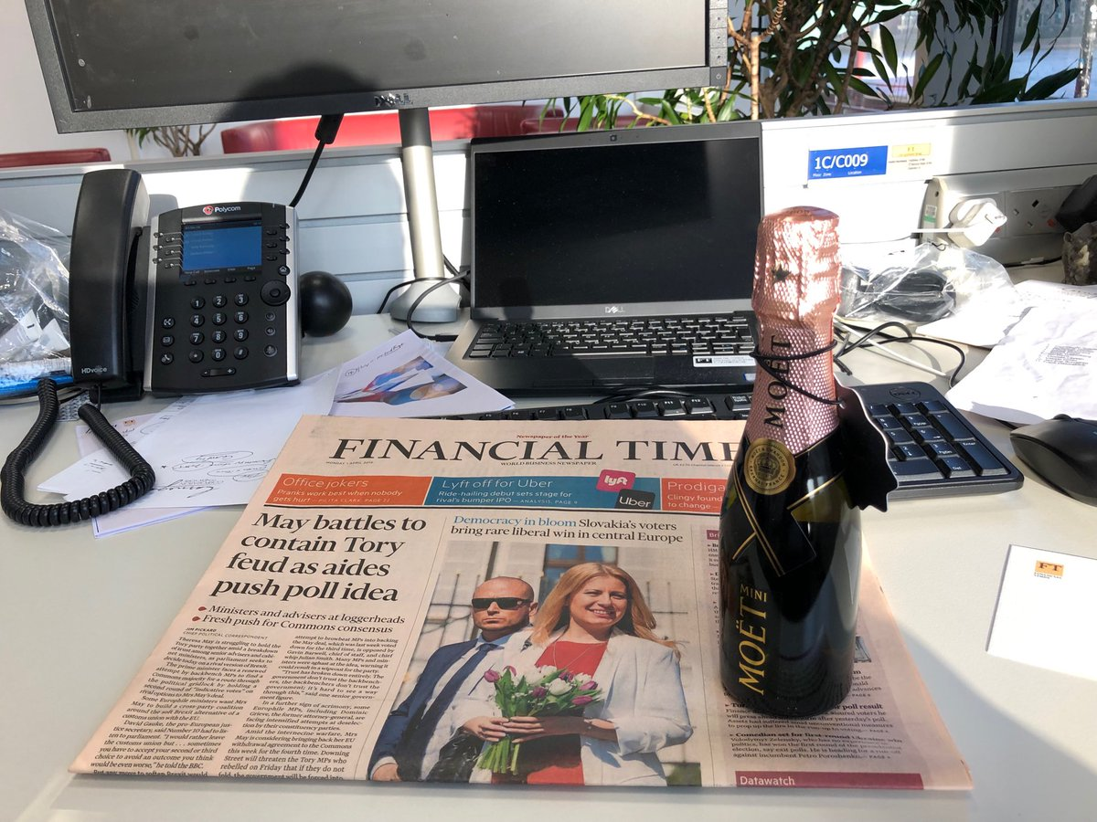 BREAKING news: it's official. The Financial Times has passed the milestone of 1m readers - one year ahead of schedule. Congratulations and thanks to my brilliant journalist colleagues #pink #champagne