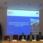 Image for the Tweet beginning: Inauguration event of ENISA's new