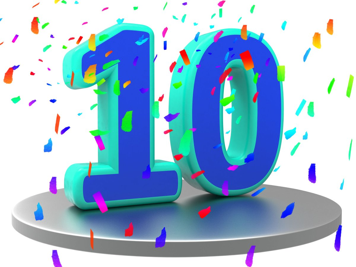 Открытки к 10 летнему юбилею, дня доброе утро