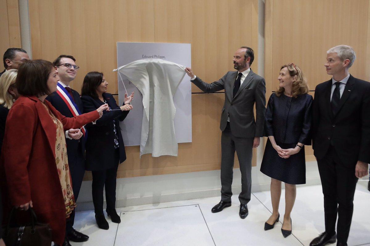 Inauguration du nouveau Tribunal de Paris par @EPhilippePM @franckriester @Anne_Hidalgo