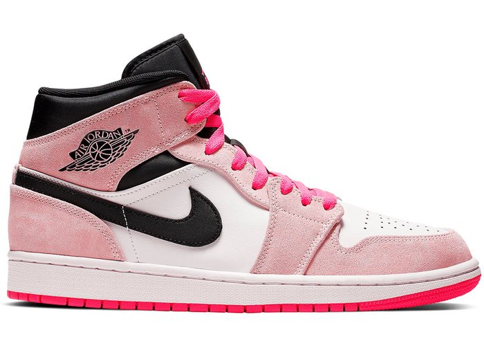 be3b83ffd2f Dominated by shades of pink, the AJ1 Mid 'Crimson Tint' demands attention.  Catch a look, cop the kicks: https://stockx.com/air-jordan-1-mid-crimson- tint?