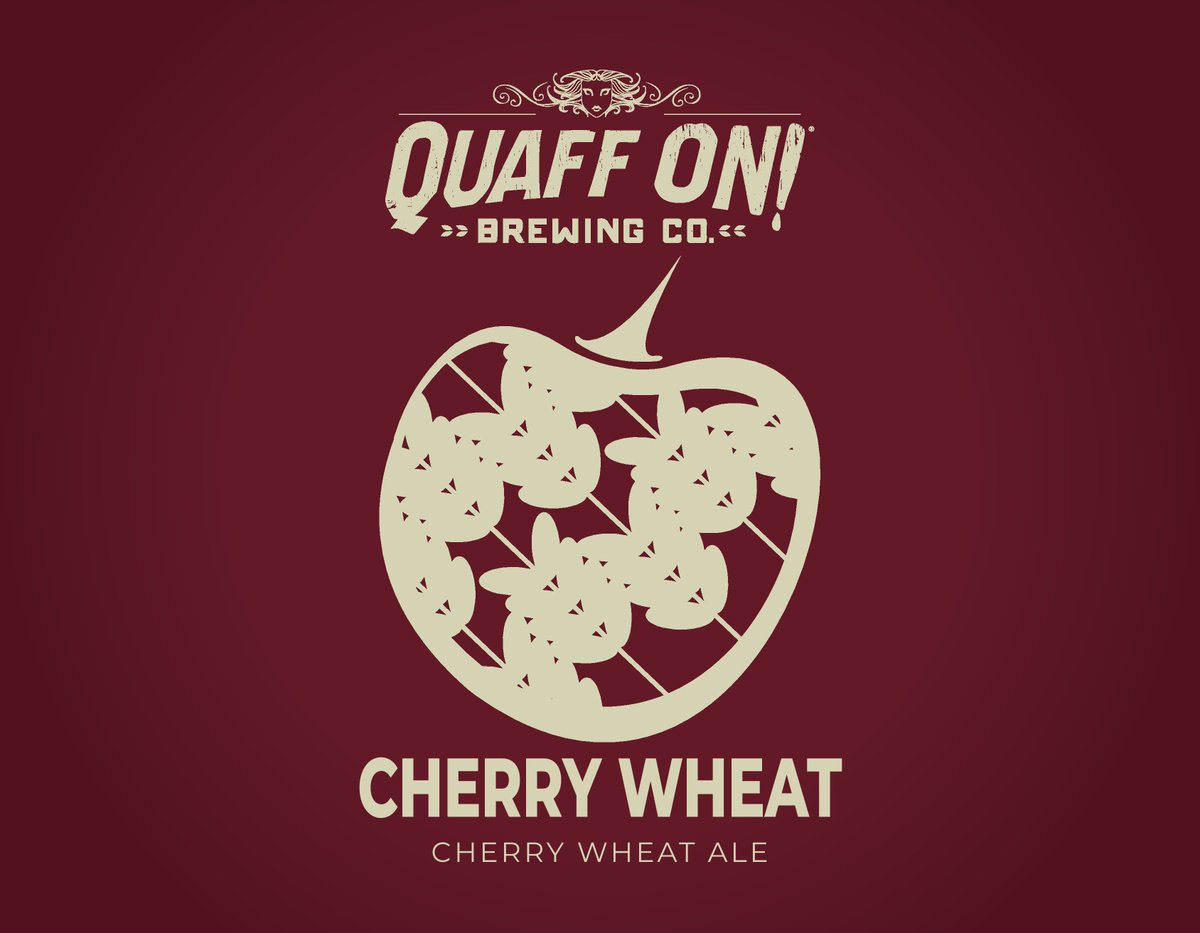 Happy April (no foolin), friends! Our Quaff ON! beer of the month is now Cherry Wheat! And, on Mondays throughout April — including today — pints of it are $3 each!