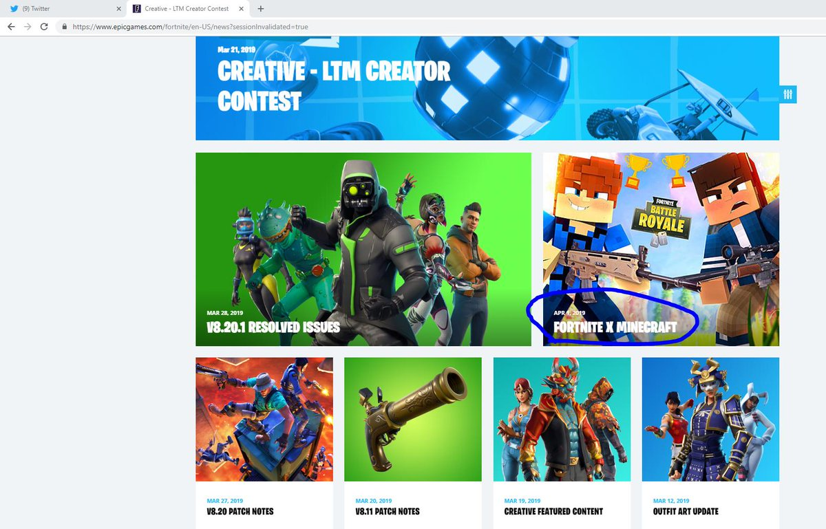 Forttory Fortnite Leaks News On Twitter Fortnite X Minecraft Got Announced For status updates and service issues check out @fortnitestatus. forttory fortnite leaks news on