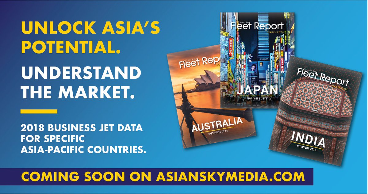 Interested in knowing how a specific #AsiaPacific #BusinessJet market did in 2018? ASG's exclusive country profile data will be available on April 15 on  http://www.asianskymedia.com.  #bizjet #businessaviation #bizav #AsianSkyGroup #AsianSkyMedia