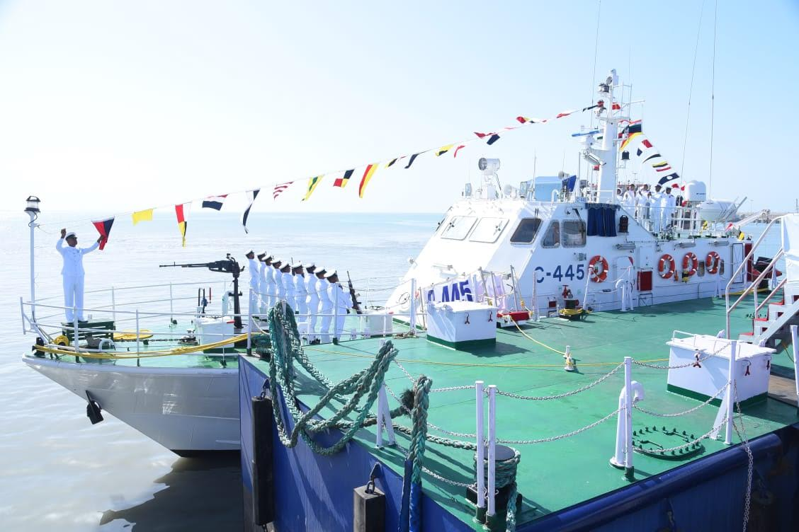 Another Interceptor Boat commissioned in Indian Coast Guard fleet in Porbandar, the advanced one is capable of chasing in shallow waters too