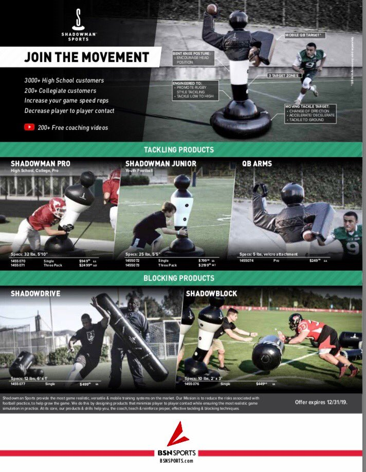 dd00938f3 ... force the players to tackle the right way. Visit  http://www.shadowmansports.com or contact your BSN Rep today for more  info!pic.twitter.com/j56SgZpEwW