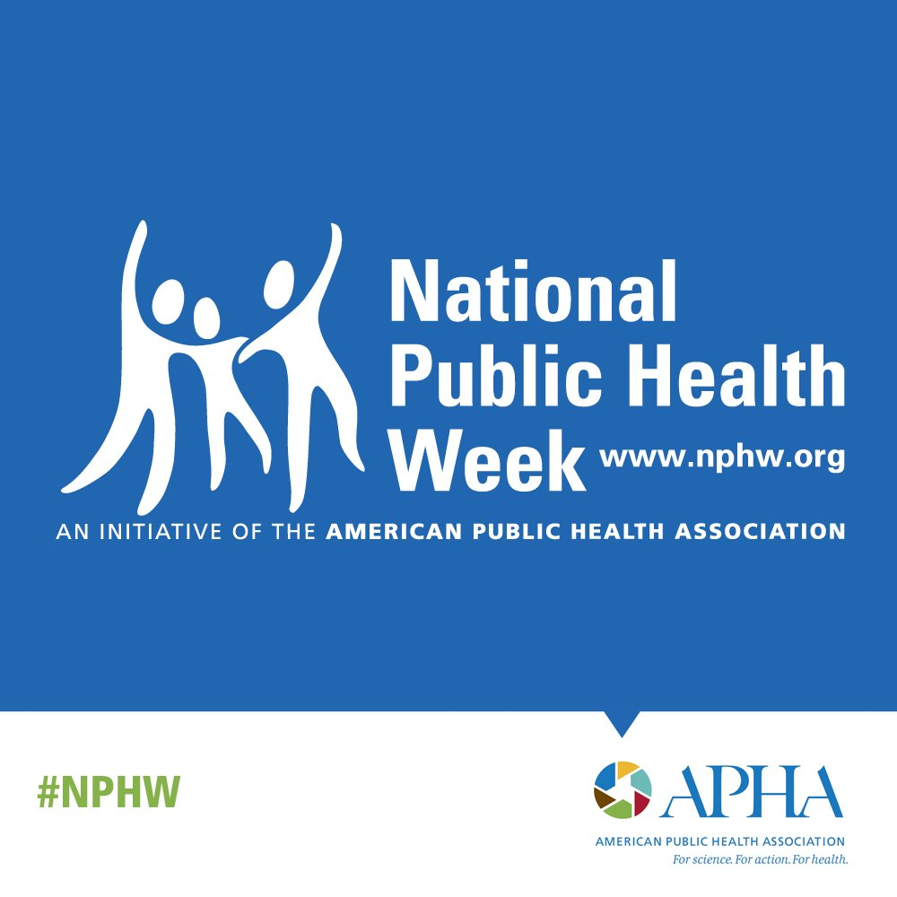 It's National Public Health Week! Join with us April 1-7 as we celebrate the power of prevention, share strategies for successful partnerships and champion the role of a strong public health system. http://nphw.org/ #NPHW