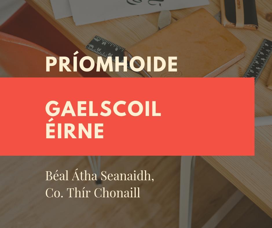Tá folúntas ann do Phríomhoide i nGS Éirne faoi láthair, scoil atá lonnaithe i gCo. Thír Chonaill. Féach: https://www.educationposts.ie/post/view/116058… #Gaeilge #gaelscoil4all #siógnabpost