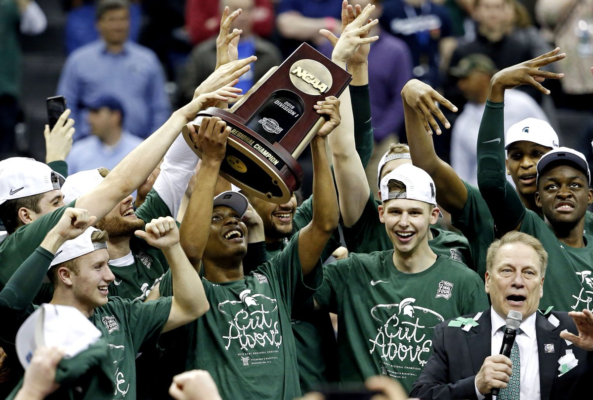 2018-19 @MSU_Basketball 🏆 counter:  Las Vegas Invitational ✅  B1G regular season ✅  #B1GTourney ✅  NCAA East Region ✅  NCAA tournament ❓  #MarchMadness