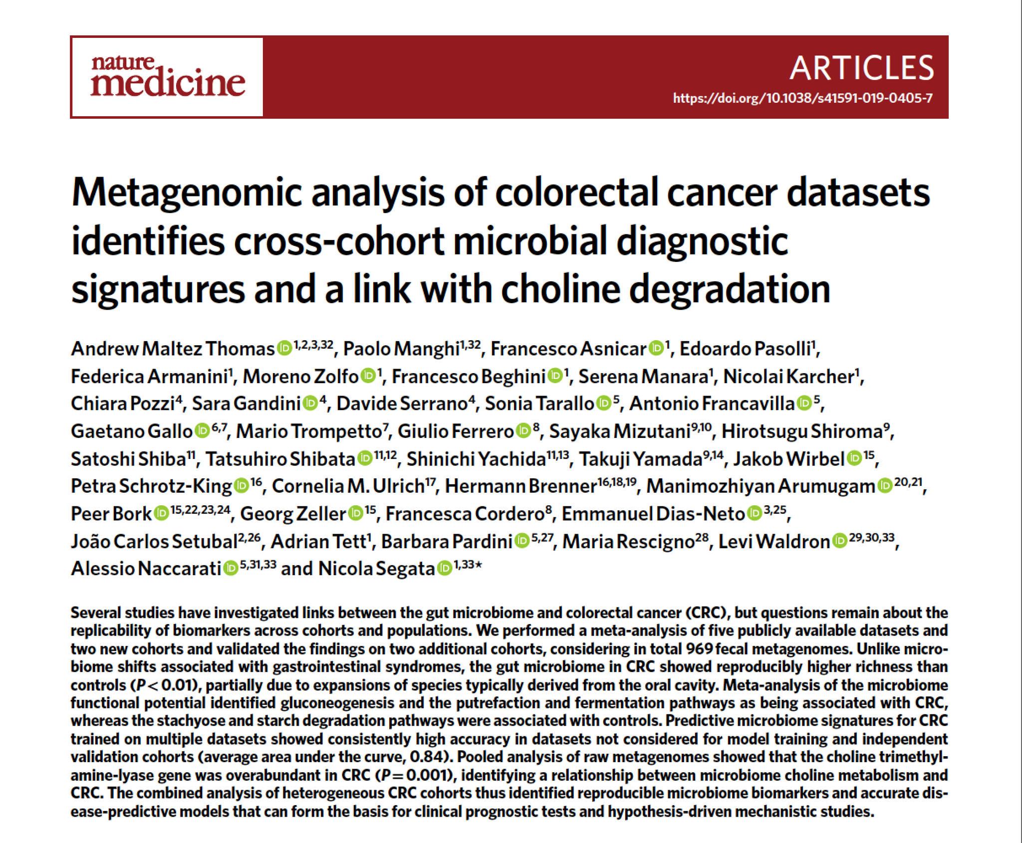 Eric Topol On Twitter It S Not Enough To Characterize The Gut Microbiome By Bacterial Content How Metagenomics Tracks With Colon Cancer Specific Signatures Https T Co Yih1teyevg Https T Co Jqricffhgz Naturemedicine Https T Co Vfdiuxjqvo