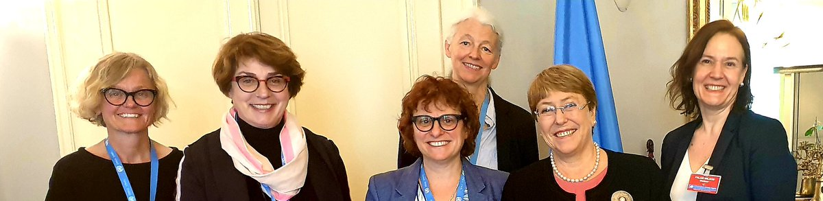 Today's ecxellent discussion with the UN High Commissioner for Human Rights, M.Bachelet focused on improving support for realizing the rights of older persons - including to social protection and long term care  @IntFedAgeing @UN4Ageing @janebarrattIFA @ohchr @mbachelet @UNECE