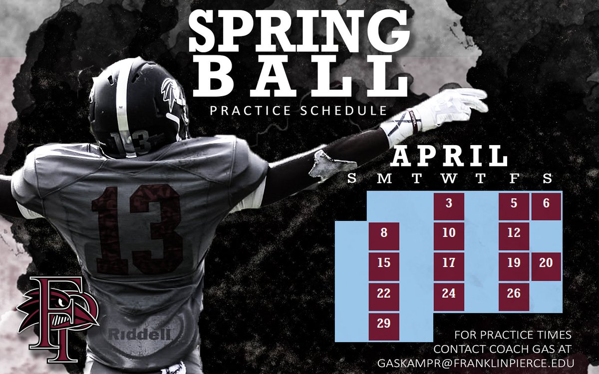 Excited for @Ravens_FB to get Spring Ball started on Wednesday! @FPUathletics