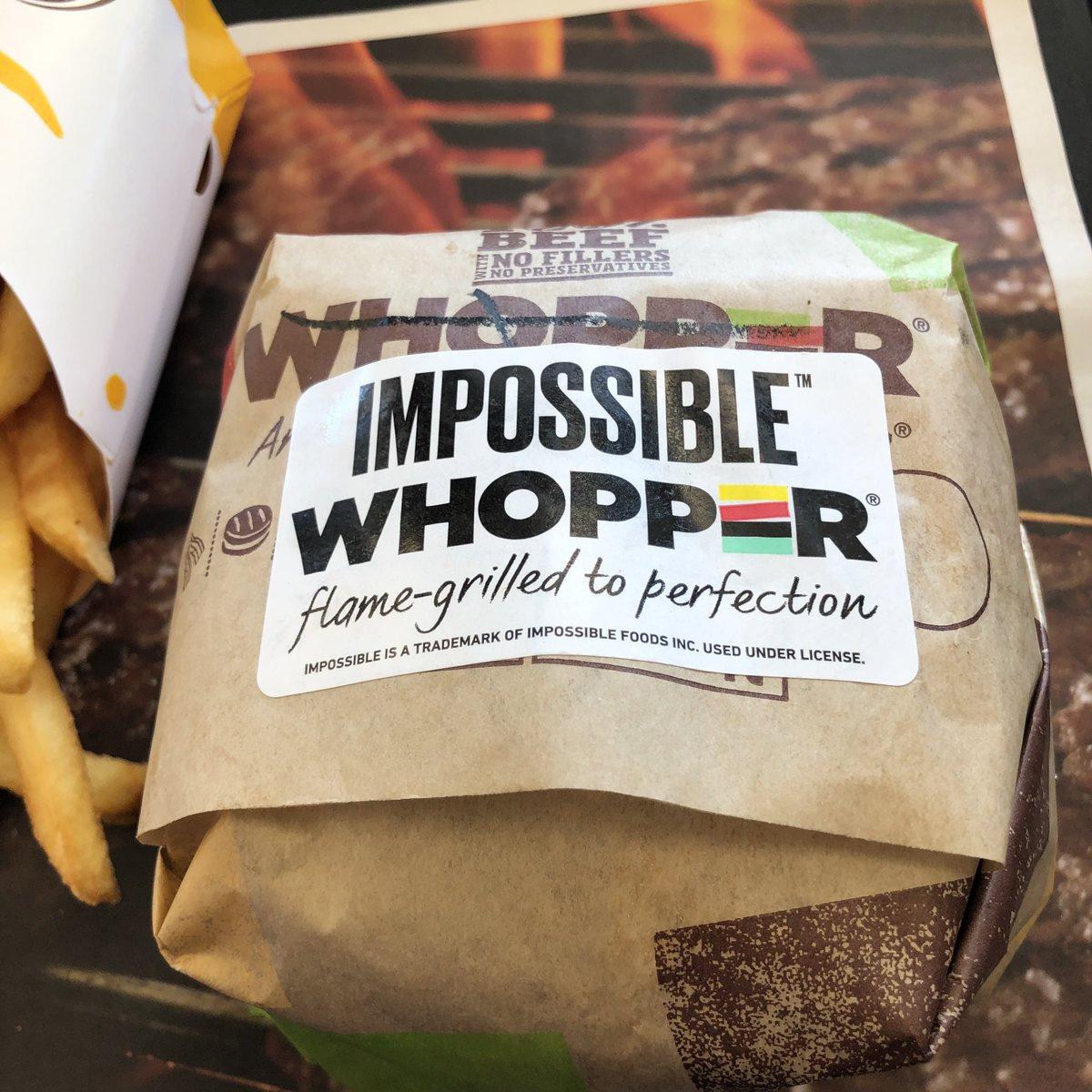 Image result for burger king impossible burger
