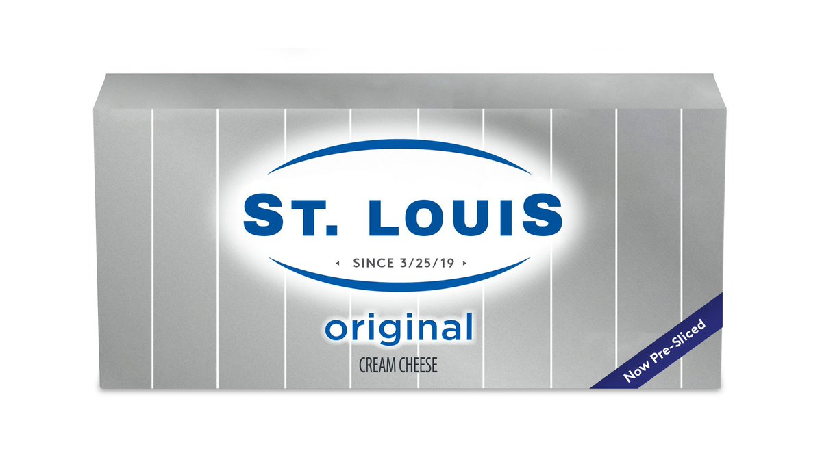 We don't just stand with St. Louis, we slice with St. Louis! Today, we're launching our latest schmear, #StLouisStyle. One brick. Ten slices. Yeah, we're going there. Find us in the dairy aisle. #Bagelgate #ItMustBeThePhilly<br>http://pic.twitter.com/rATxIpw5fL