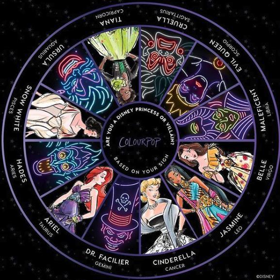 RT @ColourPopCo: 🖤What's your sign? 🖤  #DisneyVillainsAndColourPop https://t.co/eMmxsj6OwU