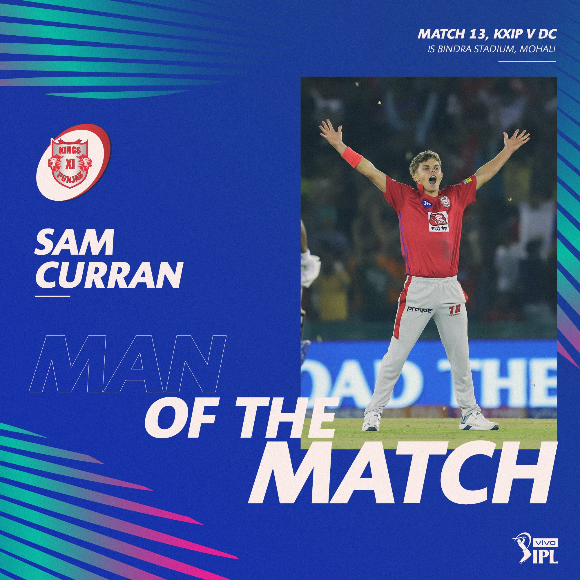 "Uživatel IndianPremierLeague na Twitteru: ""Sam Curran is adjudged"