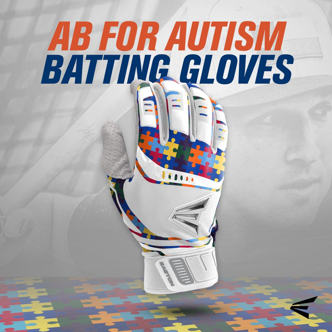 We have collaborated with @abreg_1 to create these limited edition AB for Autism batting gloves in support of #autismawareness month! All sales will go to support @abforautism. Visit http://Easton.com to snag yours before they are gone!