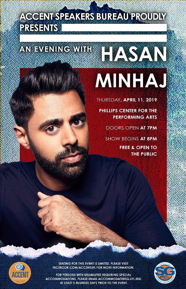 We are so excited to announce our last speaker of the semester, Hasan Minhaj!