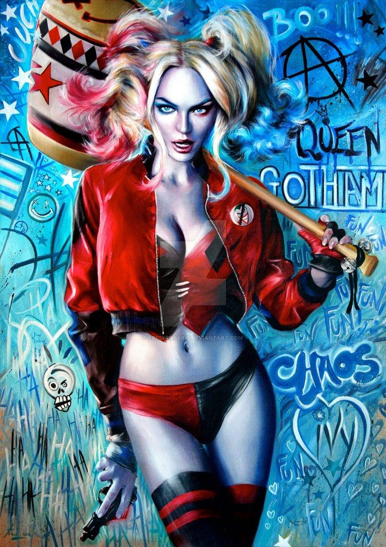 #HarleyQuinn Portrait by FredlanParis #ManiacMonday @InsurgencyNQ  @PrincesaJaz21  @PropertyOf_J  @Real_Mista_J  @MurderCusDoll  @harleyjhoughtonpic.twitter.com/zOkHaHU2K6