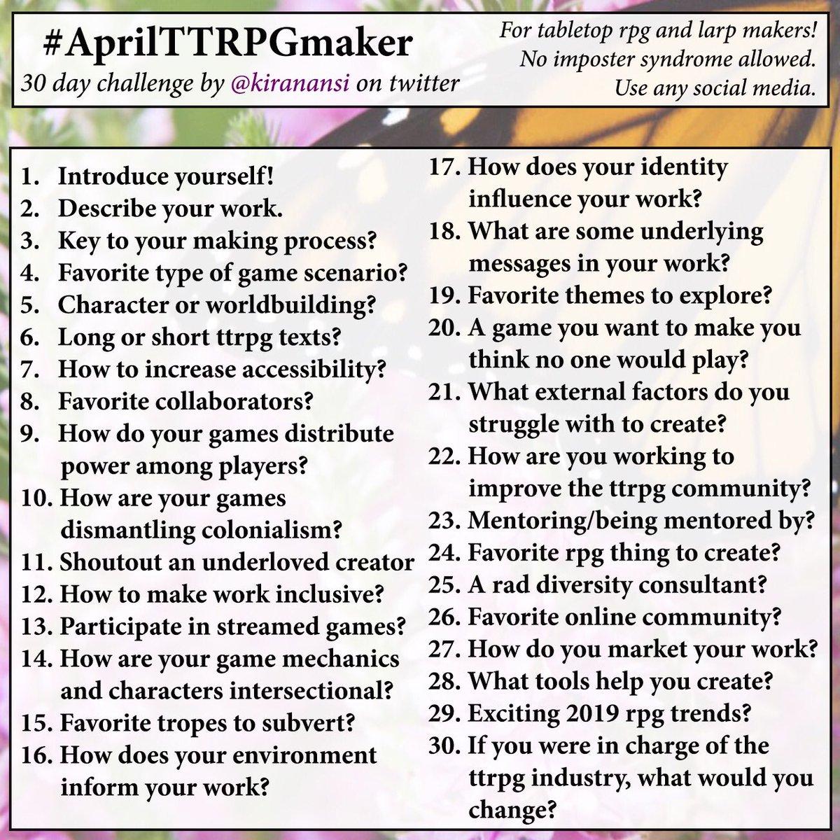 #AprilTTRPGmaker