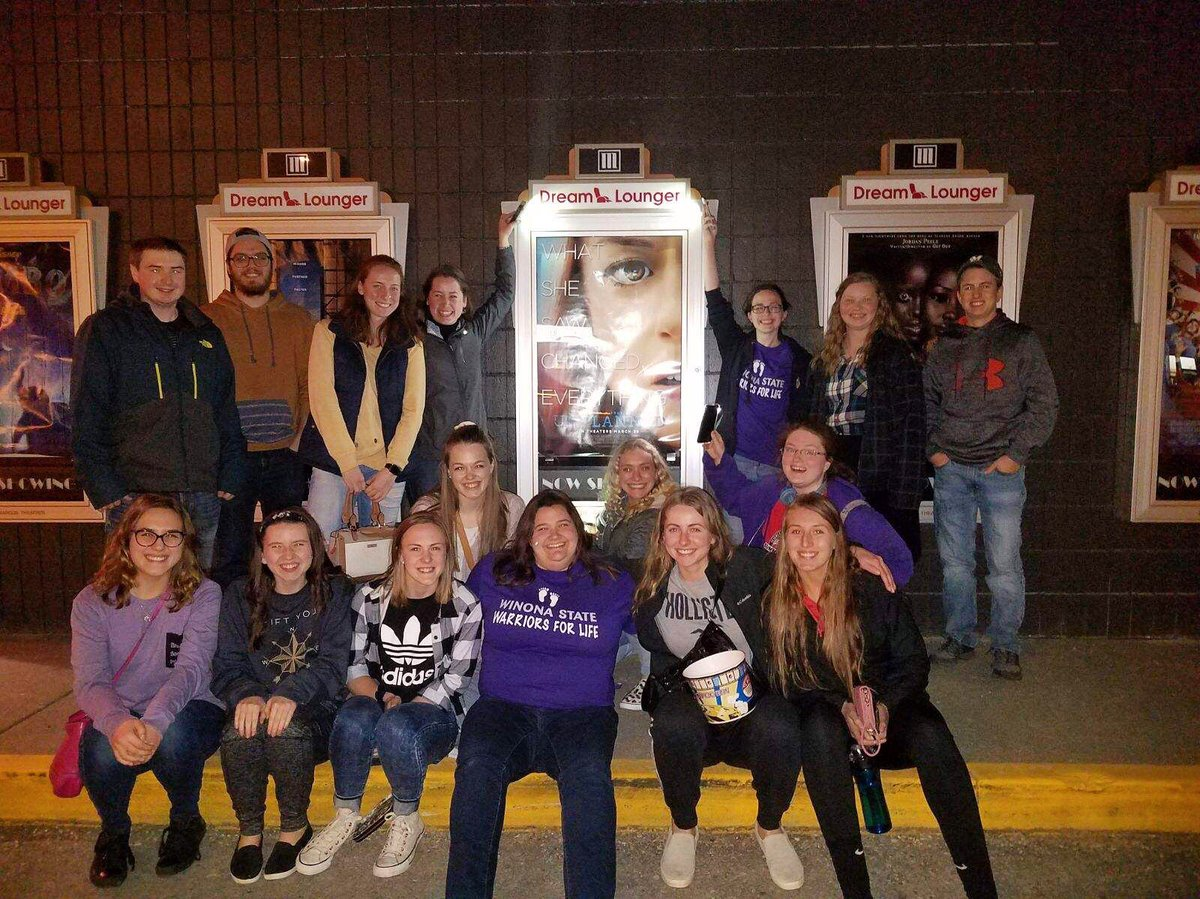 This past weekend our club took a trip to La Crosse, WI to watch the #unplannedmovie. This was a very powerful film that helped to open our eyes to the realities of the abortion industry. We would 10/10 recommend this movie!