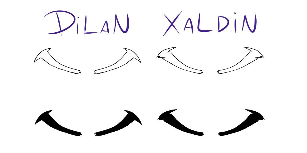 While I was thinking about what to do I did this. Maybe it's useful to someone, I hope. 😄 #KingdomHearts #Dilan #Xaldin  #eyebrows
