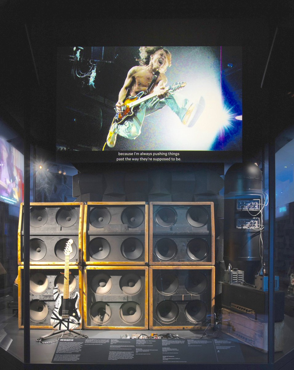 "My 1978 touring rig and original ""Frankenstein"" guitar are on display in New York at the Metropolitan Museum of Art's ""Play It Loud"" Instruments of Rock & Roll exhibit. The exhibit opens to the public on April 8th. #MetRockandRoll #NewYork #frankenstein #eddievanhalen @metmuseum"