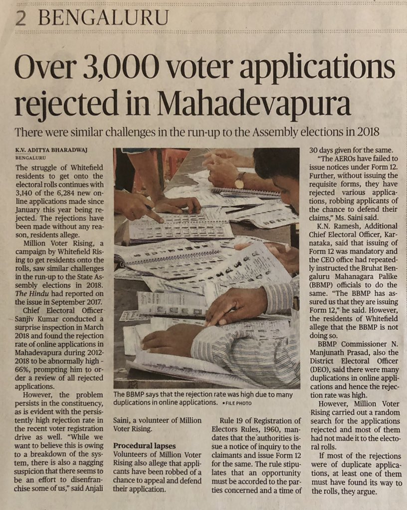 d93d283e Assembly Elections last year saw >8k rejected applications Now, 3k+ w/o  reason. Form 12 would have given time to rectify, but rejection means  re-apply, ...