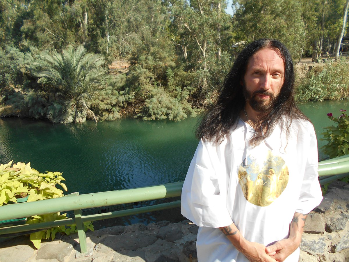 The time I was baptized in the Jordan River. I thought it would be a great idea to swim around afterwards...wearing jeans...I sank, and struggled back to shore...I actually felt God's eyes roll! LOL #baptism #Israel #jordanriver #Jesus #GOD #timmy #timmydontcare