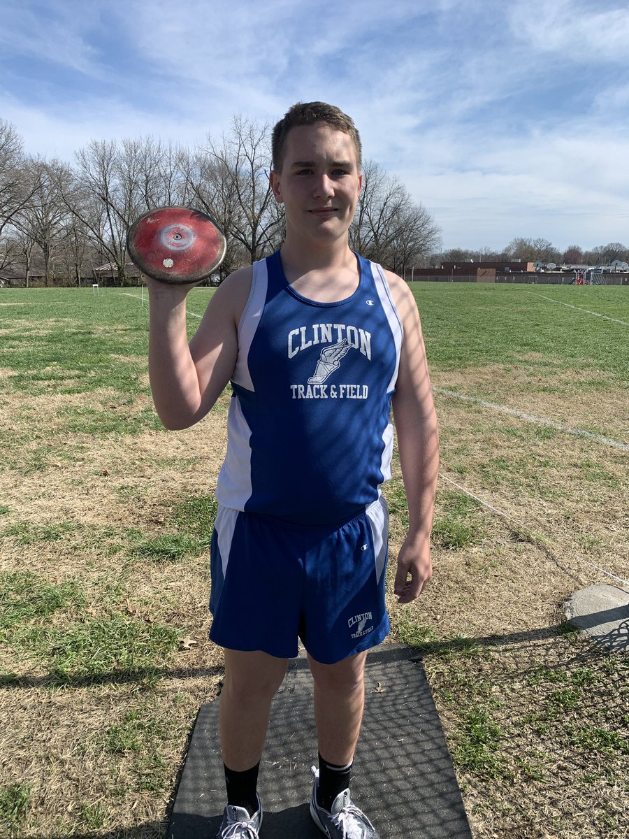 First CMS track meet of the season was today! So proud of all the athletes, but most proud of my boy! Phillip got 1st in discus and 3rd in shot put! #CardinalPride @CMSCardinals @ClintonMoCards