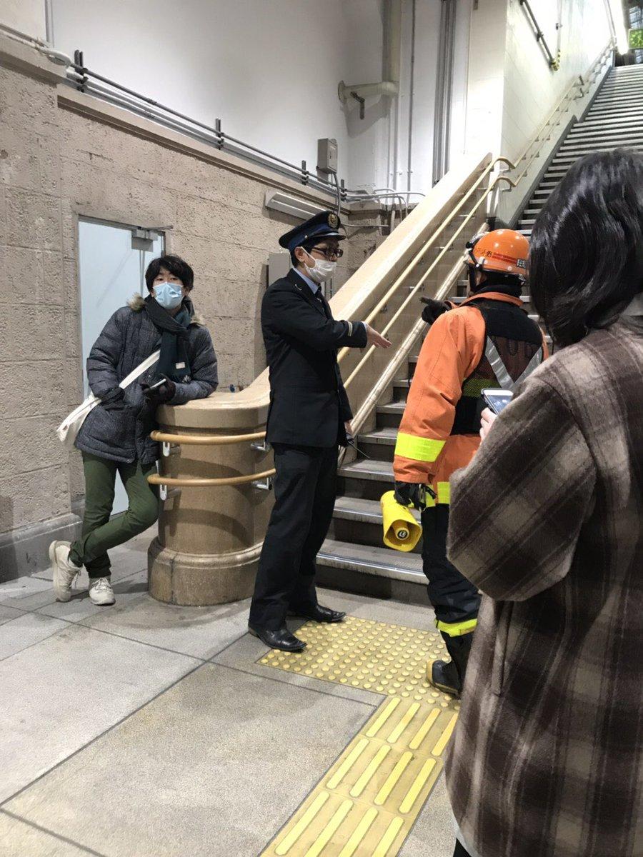 兵庫駅に「薬品が撒かれた」というイタズラの通報で駅が封鎖された現場画像
