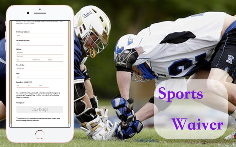 Participants can sign the sports digital release form with CleverWaiver. #WaiverSoftware #WaiverAppForIPad #WaiverKiosk #FreeOnlineWaiverSigning #DigitalWaiverKiosk #ElectronicSignatureWaiverRelease #OnlineReleaseForm #ReleaseOfLiabilityFormOnline  https://www.cleverwaiver.com/?ftwitter