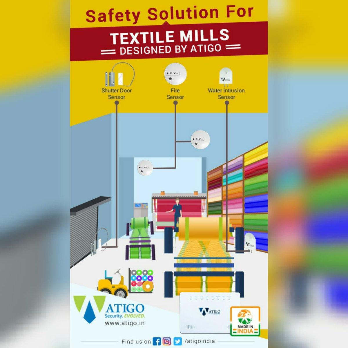 Safety solution for textile mills - designed by Atigo  http://www.atigo.in #atigoindia #textilemills #SafetyFirstpic.twitter.com/SRqHkIuj0X