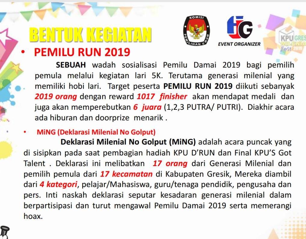 Pemilu Run - Gresik • 2019
