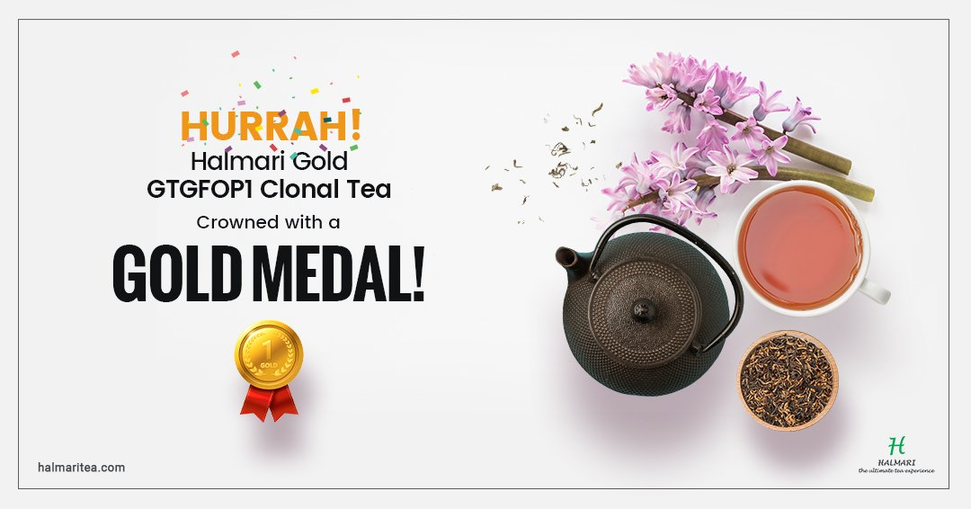 Another star in the cape! This year's #Global_Tea_Championship Winner 2019 is none other than the elusive Halmari Gold #GTGFOP1_Clonal Tea! As the shine of the #Gold_Medal sparks, this brew now becomes the new King of teahood > https://t.co/VZq328tLWr https://t.co/AmR1o0PMV8