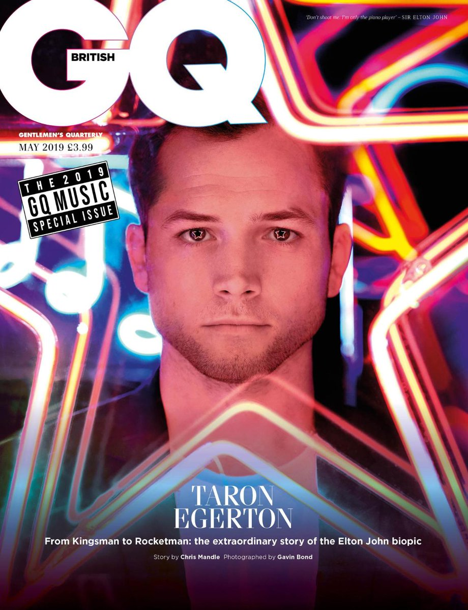 Our May cover star is @TaronEgerton ⭐️. Read the interview by@chris_mandle now https://www.gq-magazine.co.uk/article/taron-egerton-interview…
