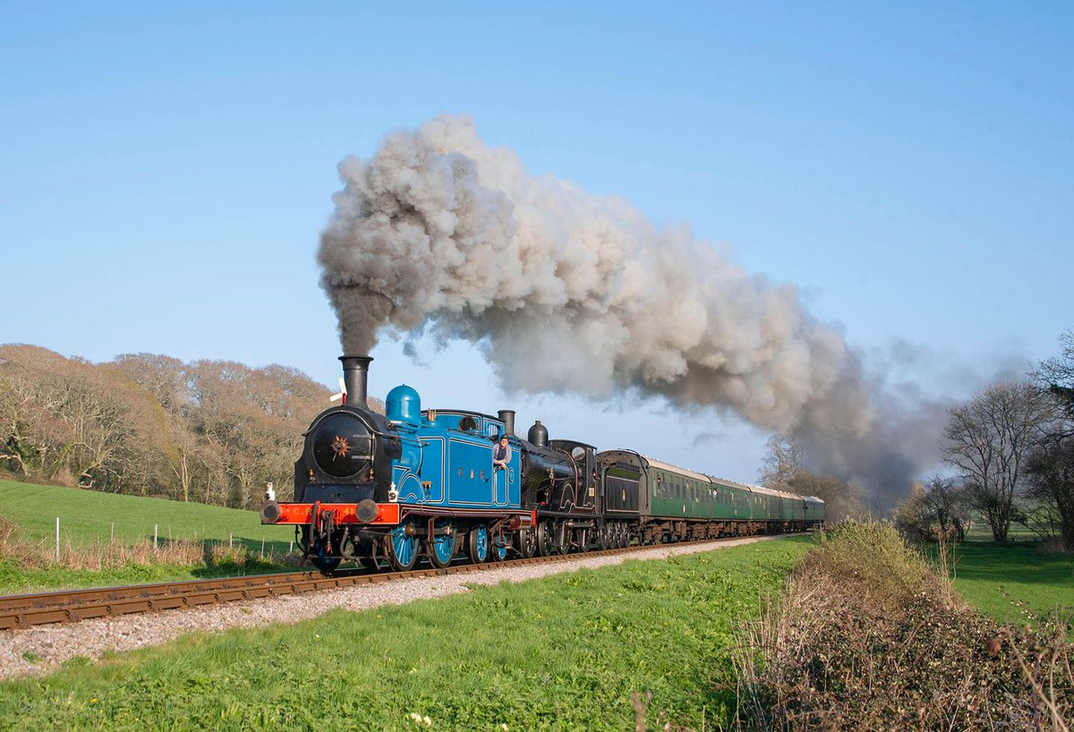 test Twitter Media - CR No. 419 has been having a ball on her spring 2019 tour. We've met some fantastic volunteers and staff @CVRofficialsite @eastlancsrly & @SwanRailway. Next stop @nnrailway then back to @bonessrailway. Seen paired with LWSR T9 on the Swanage Railway 📸 by Alan Turner. ^JS https://t.co/cFiFQSDFF0