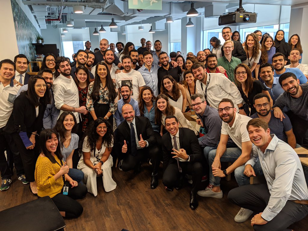 Great morning chatting with the @Uber team in #Dubai. Proud of what the team here has built in the Middle East & Pakistan. And excited about the huge opportunity ahead in this fast moving region of the world. https://t.co/20oscXKYGd