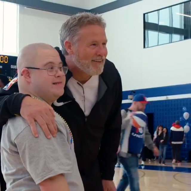 Coach Brett Brown recently hosted the @sixers third annual Bounce Out The Stigma clinic for children with Autism. #WorldAutismAwarenessDay