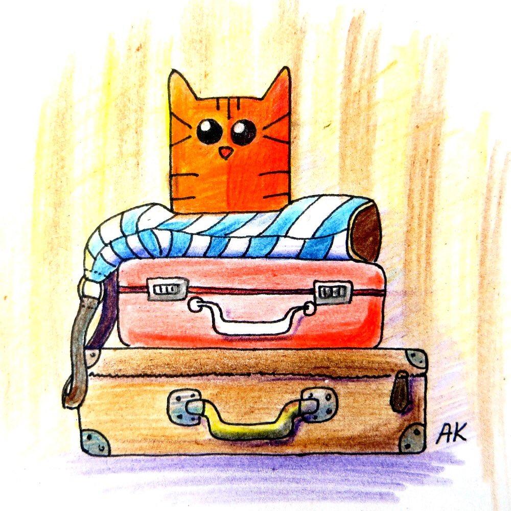 Прикольные картинки про чемоданное настроение